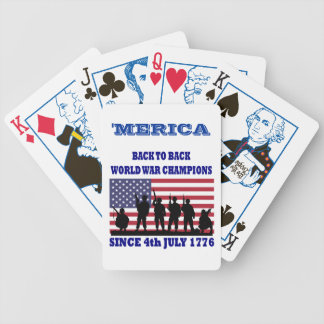 Merica,Back to back world champions Bicycle Playing Cards