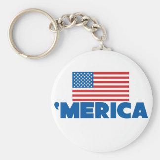 'Merica Basic Round Button Key Ring
