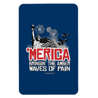 'Merica - Bringin' the amber waves of pain Rectangular Photo Magnet