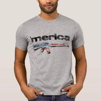 Merica Distressed Rifle Shirt
