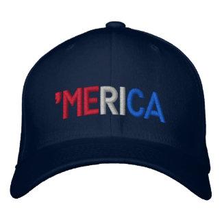 merica embroidered baseball cap