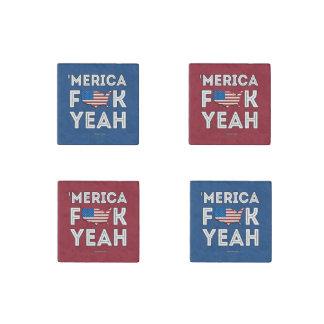 Merica - F yeah Stone Magnet