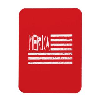 Merica Flag Rectangular Photo Magnet