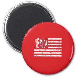 Merica Flag 2 Inch Round Magnet