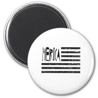Merica Flag 6 Cm Round Magnet