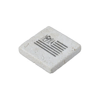 Merica Flag Stone Magnet
