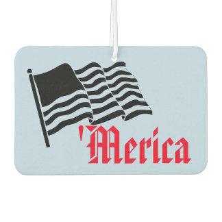 'Merica Funny American Flag Patriotic Car Air Freshener