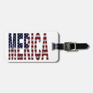 'MERICA - Grunge USA Flag Luggage Tag