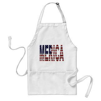 'MERICA - Grunge USA Flag Standard Apron
