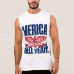 MERICA Hell Yeah Sleeveless T-shirts