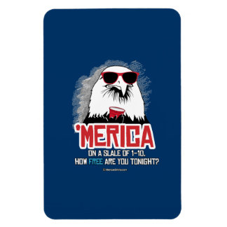 Merica - How Free are you tonight Rectangular Photo Magnet