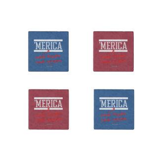 Merica - Inhale freedom Exhale Patriotism Stone Magnet