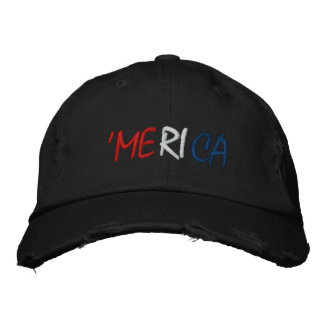 Merica - Red White and Blue American Pride Embroidered Baseball Caps
