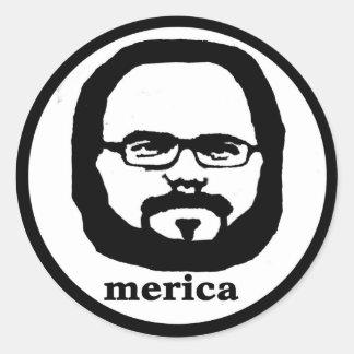 Merica Round Sticker