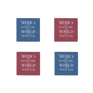 'Merica - Runnin' the world since 1776 Stone Magnet