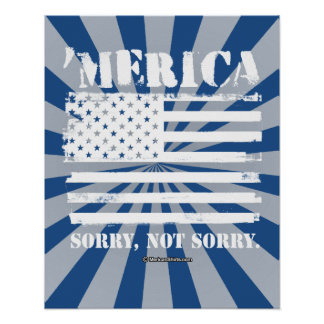 'Merica - Sorry, Not Sorry Poster