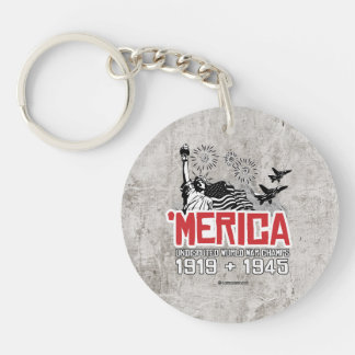 'Merica - Undisputed World War Champs Single-Sided Round Acrylic Key Ring