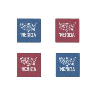Merica - United States of Combat Stone Magnet