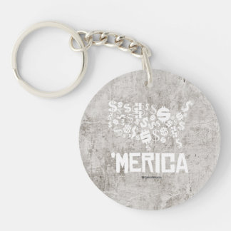 Merica - United States of Money Single-Sided Round Acrylic Keychain