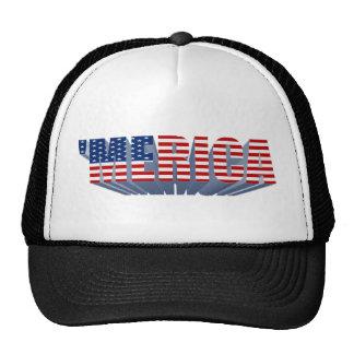 'MERICA US Flag 3D Trucker Hat
