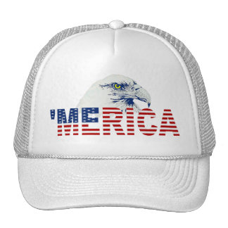'MERICA US Flag and Eagle Trucker Hat