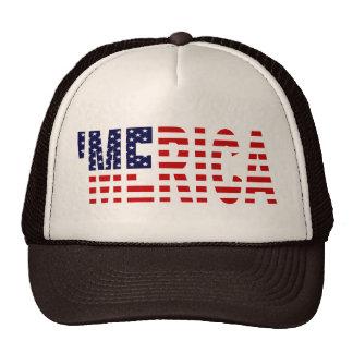 'Merica US Flag Brown & Tan Trucker Hat