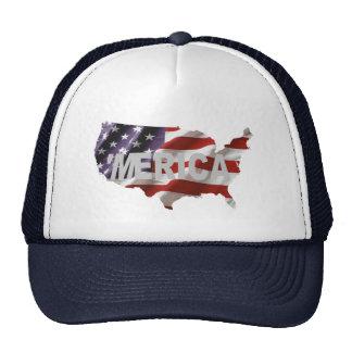 'MERICA US Flag & Country Trucker Hat