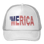 'MERICA US Flag Hat (white)