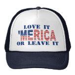 'MERICA US Flag - Love It Or Leave It Hat Trucker Hat