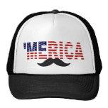'MERICA US Flag Moustache Hat