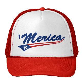 'Merica US Flag Swoosh Trucker Hat