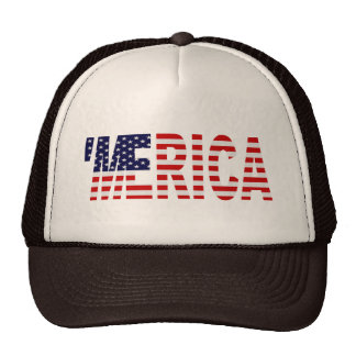 'MERICA US Flag Trucker Hat (brown & tan)