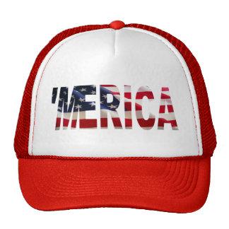 'MERICA US Flag Trucker Hat