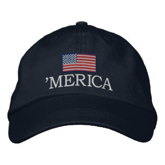 Merica - with USA flag Embroidered Hats
