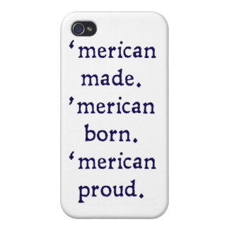 'merican made - blue iPhone 4 cover