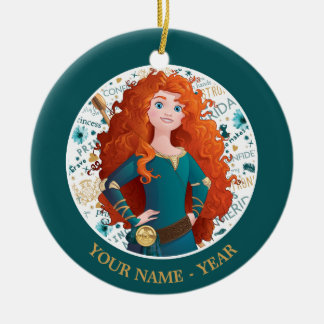 Merida | Hands On Hips Add Your Name Christmas Ornament