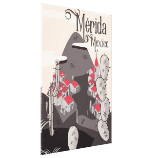 Mérida Mexico travel poster Canvas Print