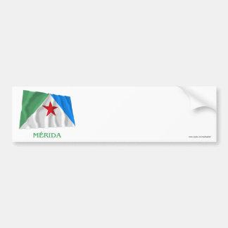 Mérida Waving Flag with Name Bumper Sticker