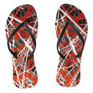 MERIDIAN (an abstract art design) ~ Flip Flops