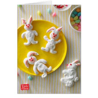 Meringue Bunny Cookies Card
