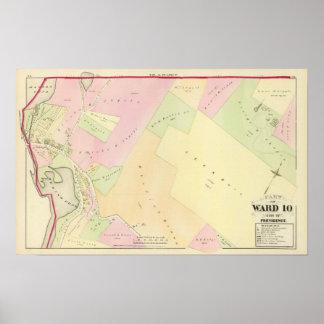Merino Pond and Manton Pond Atlas Map Poster