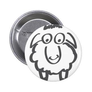 merino sheep 6 cm round badge
