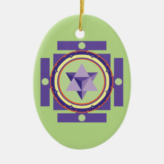 Merkaba Mandala Christmas Ornament