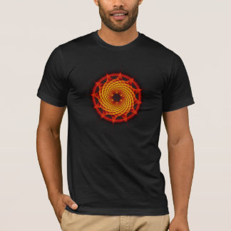 Merkaba Spiral Mandala Red ( Fractal Geometry ) T-Shirt