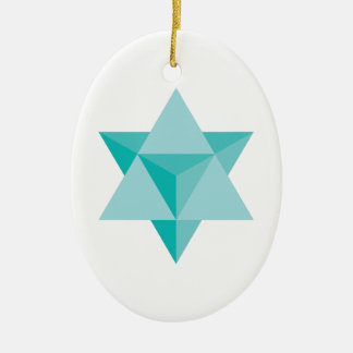 Merkaba Star Tetrahedron Ceramic Oval Decoration