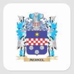 Merkel Coat of Arms - Family Crest Square Sticker