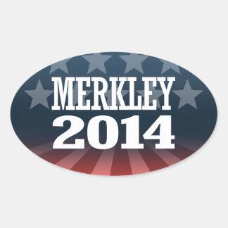 MERKLEY 2014 OVAL STICKER