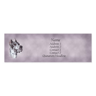 Merle Great Dane Profile Card Pack Of Skinny Business Cards