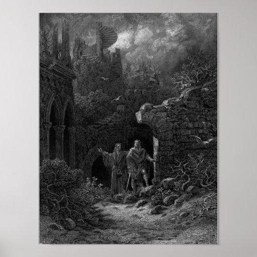 Merlin advising King Arthur Poster