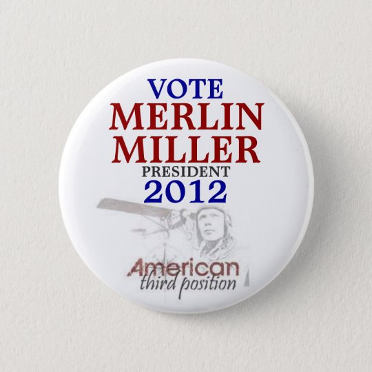 Merlin Miller 2012 6 Cm Round Badge
